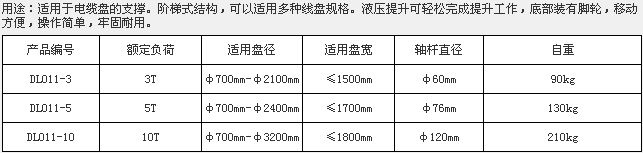 梯形液压放线架,DL011-3
