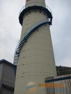 50米烟囱安装旋转钢梯平台